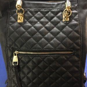 Steve Madden Quilt Front Black tote bag purse